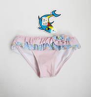 Пляжные детские плавки для девочки от 1 до 3 лет Пудра