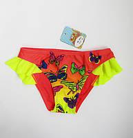Купальные детские плавки для девочки Коралл, фото 1