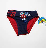 Купальні дитячі плавки, для хлопчиків Teres Темно-синій + червоний, фото 1