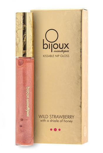 Съедобный блеск для окрашивания и возбуждения сосков Bijoux Indiscrets Nip Gloss Wild Strawberry