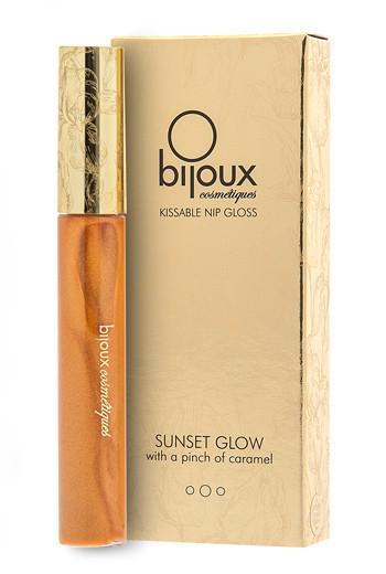 Съедобный блеск для окрашивания и возбуждения сосков Bijoux Indiscrets Nip Gloss Sunset Glow