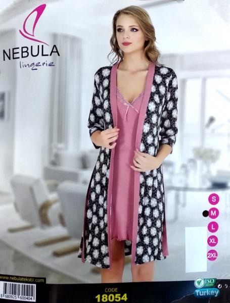 Комплект халат з сорочкою NEBULA 18054