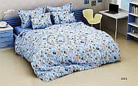 Постельное белье Мишки Котики голубые