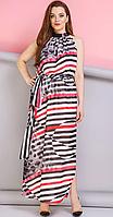 Платье Anastasia-196/1 белорусский трикотаж, чёрный с красным, 44