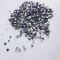 Стеклянные стразы для декора ногтей 1800 шт (dream purple)