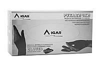 Перчатки нитриловые IGAR черного цвета без пудры