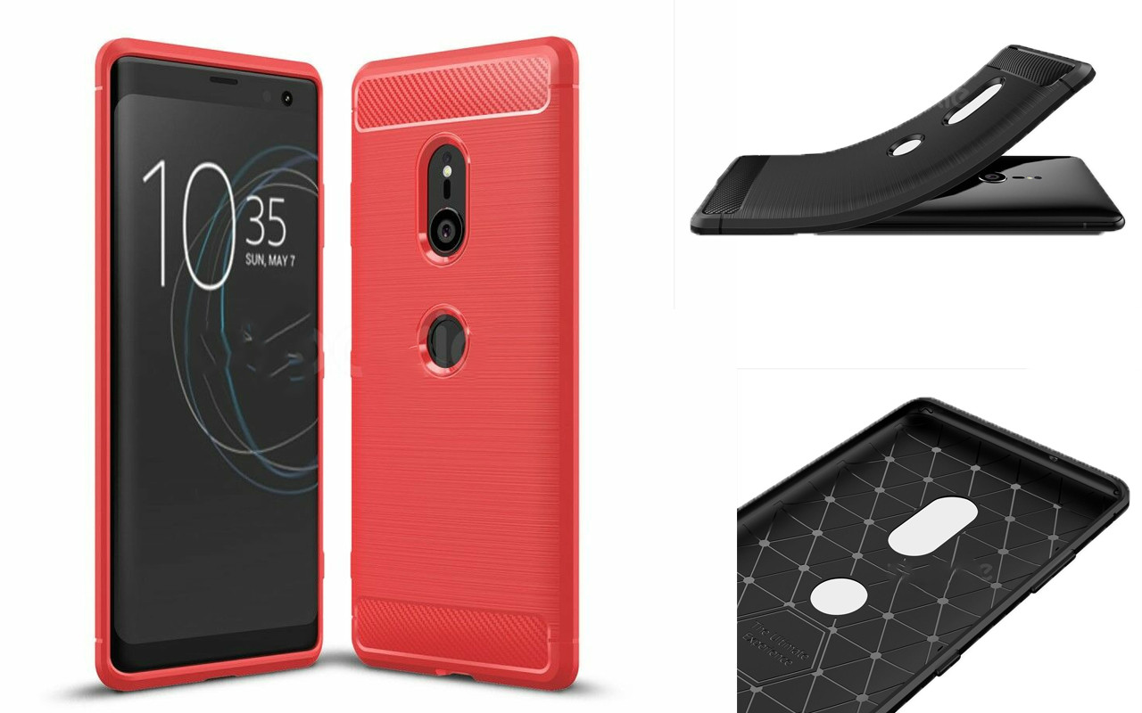 Бампер для Sony Xperia XZ3 - Red - Carbon Cover