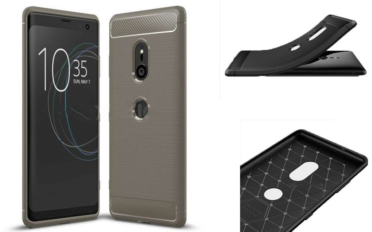 Бампер для Sony Xperia XZ3 - Grey - Carbon Cover