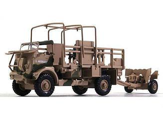 Модель коллекционная Боевых машин ALTAYA №66 Bedford QL +6 Pdr. AT Gun 1 st Armoured