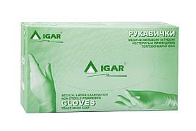 Перчатки латексные IGAR опудренные 100шт S