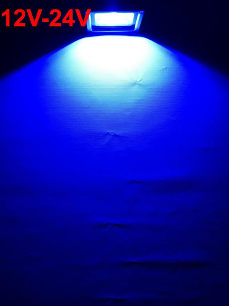 Светодиодный прожектор SL-10 10W 12-24V DC синий IP65 Код.59306