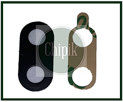 Стекло (окошко камеры) для Huawei P Smart Plus, Smart+ (INE-LX1), Черное