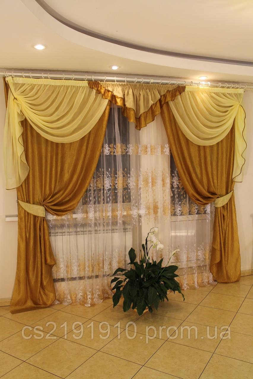 Шторы с тюлем для гостиной Кармен, фото 1