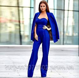 Женский костюм-двойка пиджак + комбинезон №541