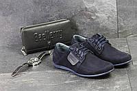 Мужские туфли в стиле VanKristi, темно-синие 40