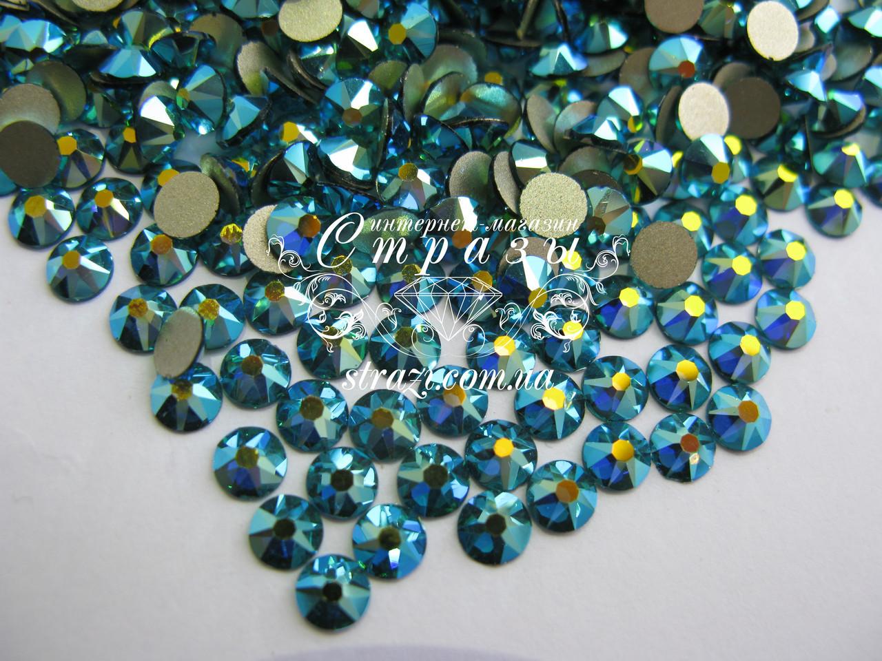 Стразы ss16 Blue Zircon AB, Xirius, NEW, 16 граней, 100шт. (4,0мм)