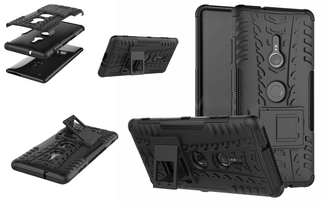 Бампер для Sony Xperia XA1 - Black - Hybrid Cover