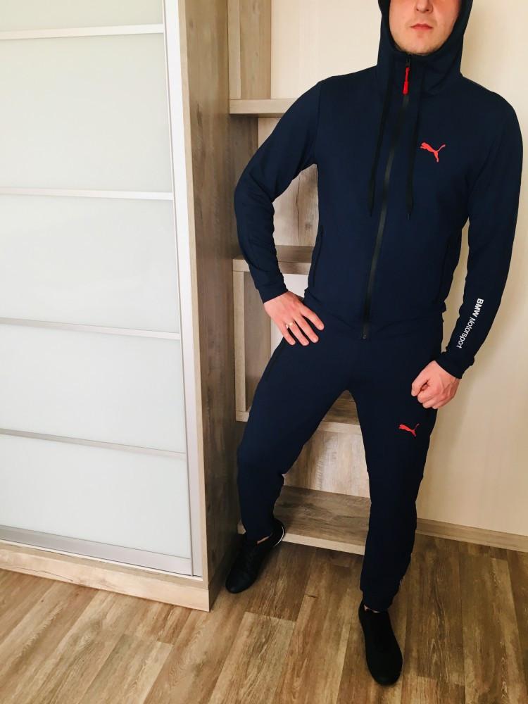 Спортивный костюм Puma Dark blue. Двунить