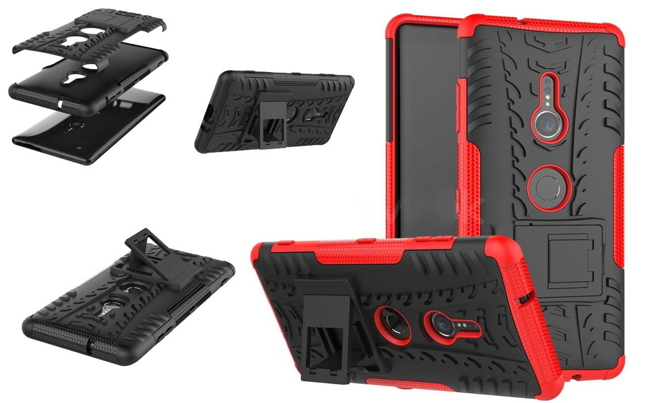 Бампер для Sony Xperia XA1 - Red - Hybrid Cover