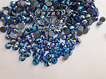Термо-стразы ss16 Sapphire AB, Xirius, NEW, 16 граней, 1440шт. (4,0мм)