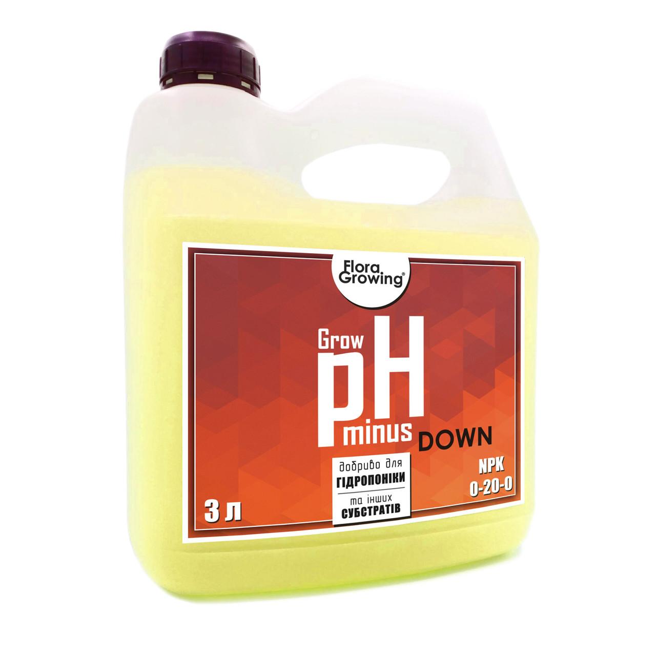 3 л Корректор pH Down/minus  Grow