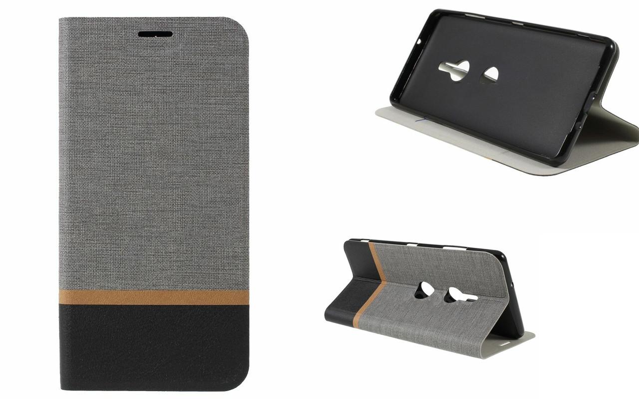 Чехол-книжка для Sony Xperia XZ3 - Grey - Texture Cover