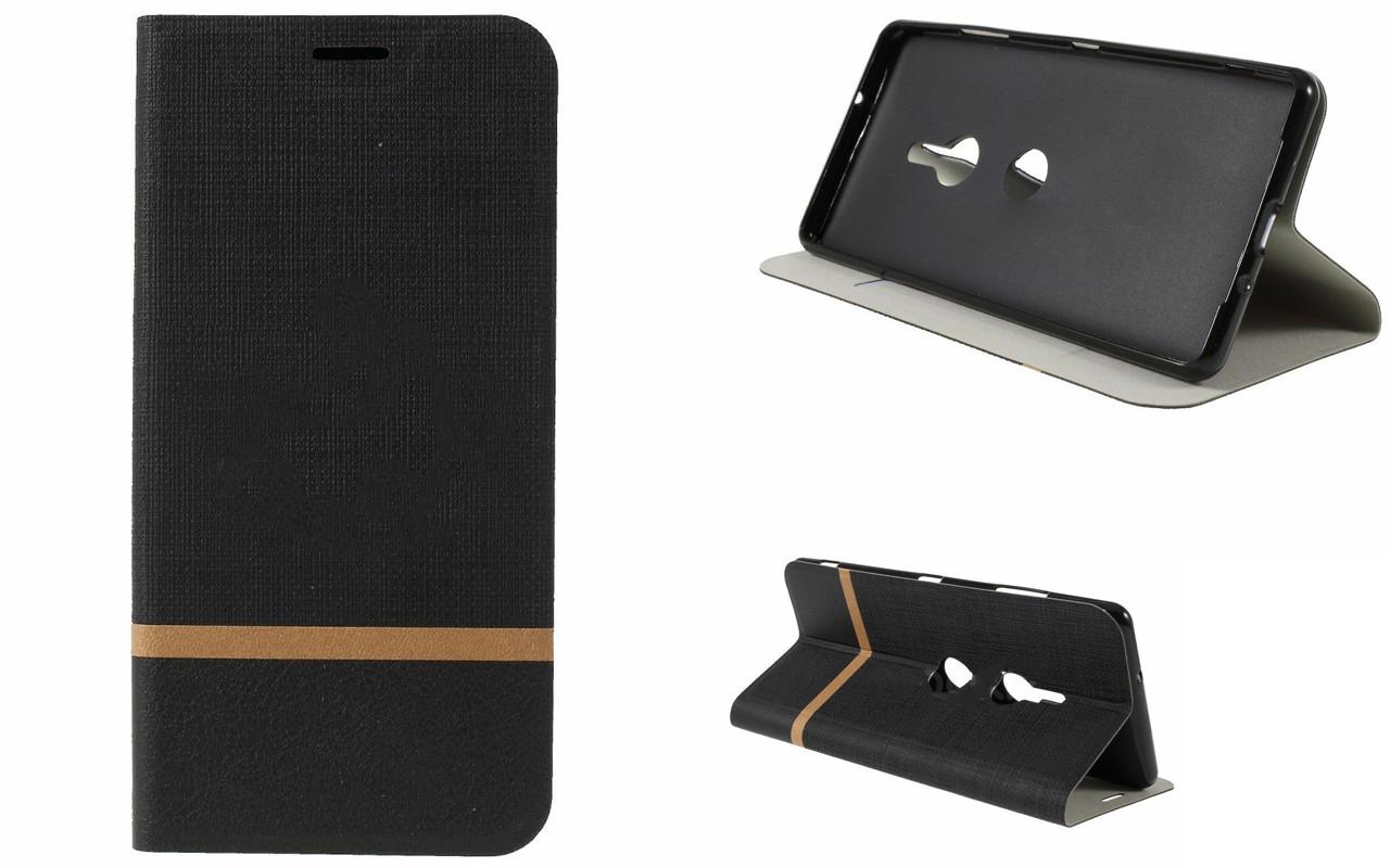 Чехол-книжка для Sony Xperia XZ3 - Black - Texture Cover
