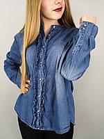 Женская джинсовая рубашка с длинным рукавом,на пуговицах,размер:S,M,L,Италия