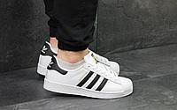 Мужские кроссовки в стиле Adidas Superstar, белые 41 (26 см)