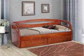Детская кровать Бавария каркас массив Ольха цвет Яблоня 80х200 (Микс-Мебель ТМ)