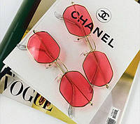 Сонцезахисні окуляри Ray Ban шестигранні червоні