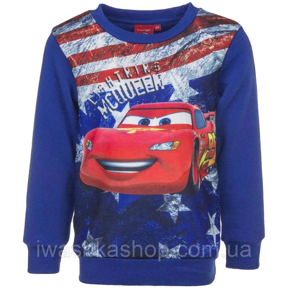 """Утепленный синий свитшот с притом """"Тачки"""" (Cars) на мальчика 3 лет, р. 94, Disney / Pixar"""