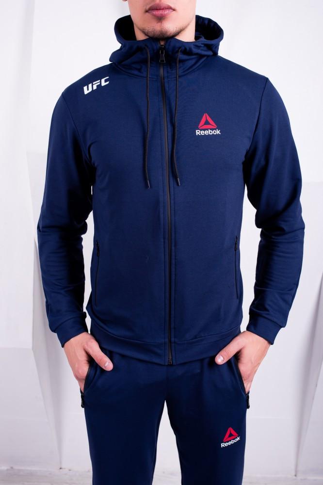 Спортивный костюм Reebok UFC темно-синий. Двунить
