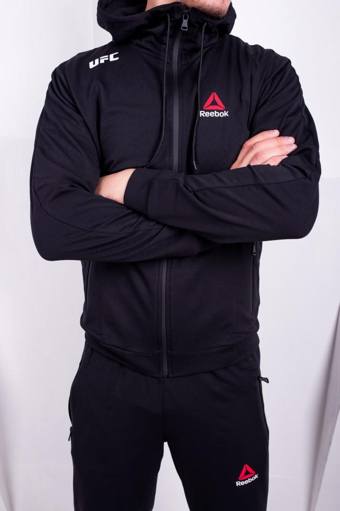 Спортивный костюм Reebok UFC черный. Двунить