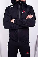 Спортивный костюм Reebok UFC черный. Двунить, фото 1