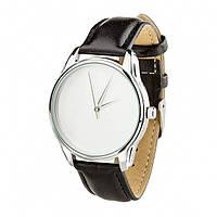 """Часы наручные """"Минимализм"""" (ремешок насыщенно - черный, серебро) + дополнительный ремешок (4600153)"""