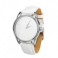 """Часы наручные """"Минимализм"""" (ремешок кокосово - белый, серебро) + дополнительный ремешок (4600154)"""