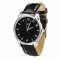 """Часы ZIZ с обратным ходом """"Классика"""" (ремешок насыщенно - черный, серебро) + дополнительный ремешок (5118453)"""