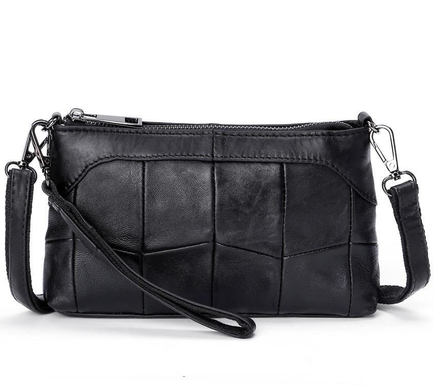 a9e477c85c9a Сумка клатч женская из натуральной кожи (черная) - Интернет-магазин «VINGO»