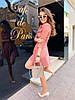 Женское платье с карманами и широким поясом в расцветках. М-13-0419, фото 4