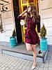 Женское платье с карманами и широким поясом в расцветках. М-13-0419, фото 6
