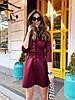 Женское платье с карманами и широким поясом в расцветках. М-13-0419, фото 7