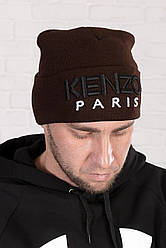 Мужская шапка Kenzo Paris, коричневая