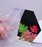 Комплект акрилових дзеркал «Соти» 50 шт. 46×40×23×1 мм срібло, фото 3