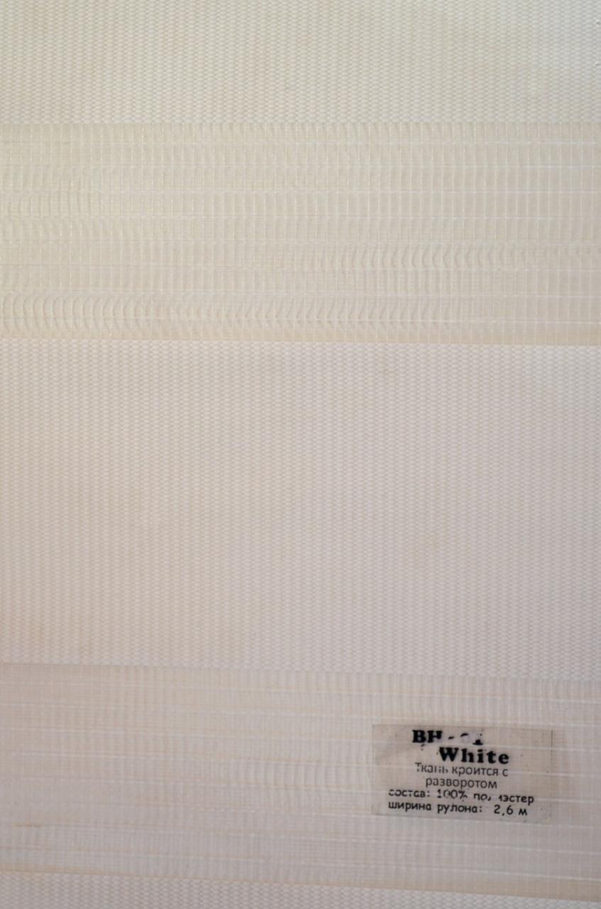 Рулонные шторы день-ночь белые BH-01