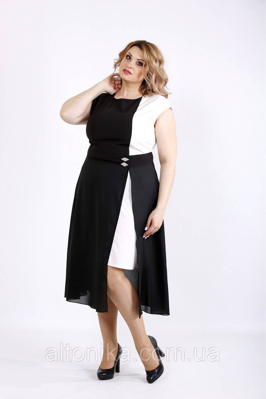 Нарядное женское асимметричное платье  / 42-74