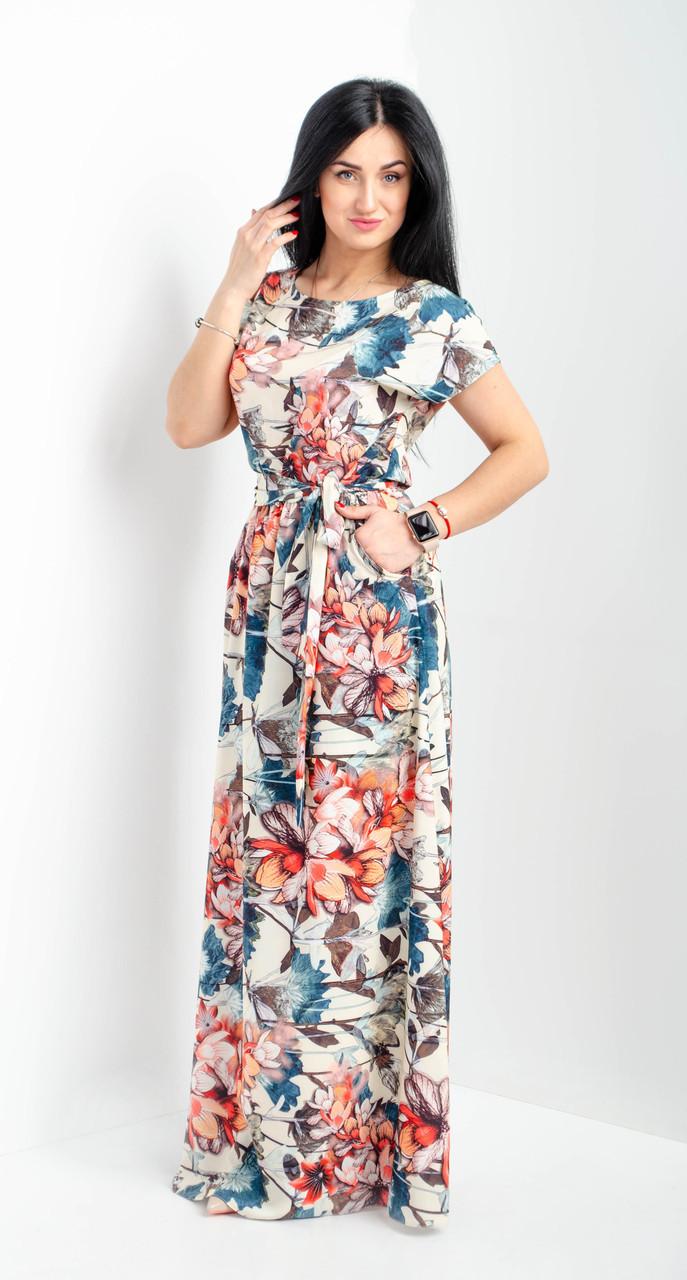 e63b88614b6 Женское летнее платье в пол. Размеры 44-46