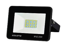 Светодиодный LED прожектор ECOLAMP 20W-1800lm-6500K-IP65