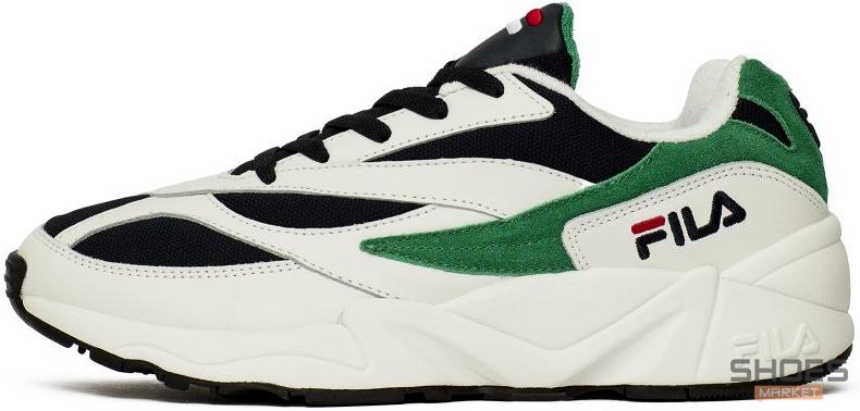 Мужские кроссовки Fila Venom Low 1010255-00Q White/Green, Фила веном