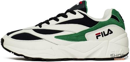 Мужские кроссовки Fila Venom Low 1010255-00Q White/Green, Фила веном, фото 2